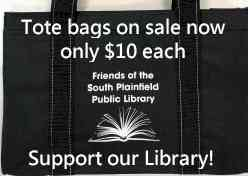Totebags for sale to support the library